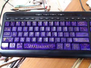 Keyboard Repaint - Alphabet Closeup