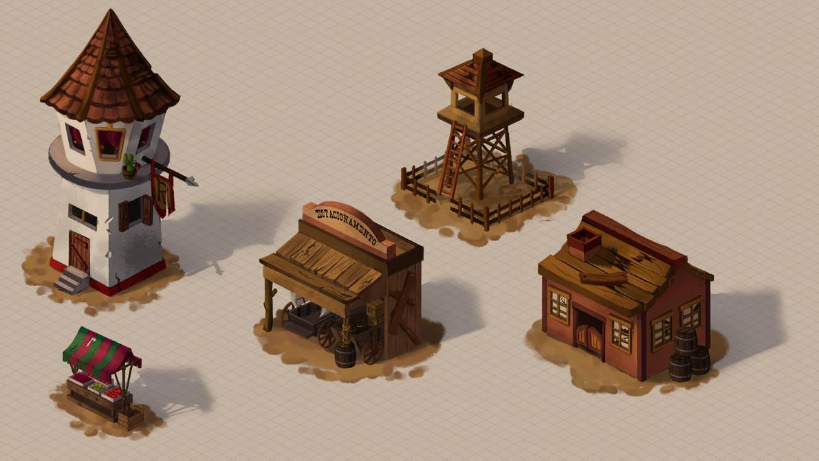 Old West Buildings Concepts