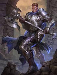 axe knight by iamagri