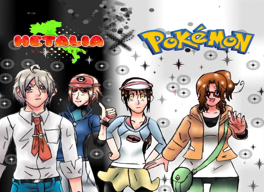Hetalia X Pokemon Black and White 2 by Princess-Amy-of-Love