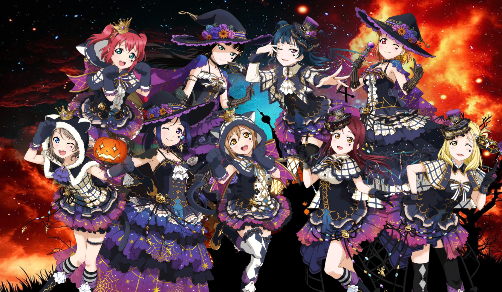 Aqours Collection  Halloween by SRMWillNeverDie on