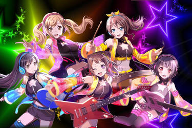 Poppin Party - Initial 3* Cards by SRM-Will-Never-Die