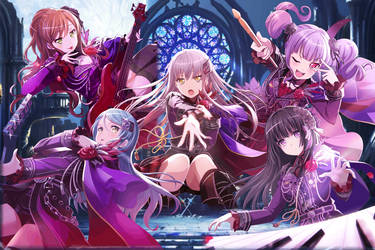 Roselia - Initial 3* Cards by SRM-Will-Never-Die