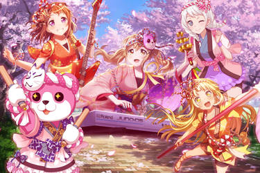 Bang Dream - Sakura Blooming Party! by SRM-Will-Never-Die