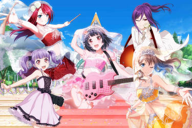 Bang Dream - The Impromptu Wedding Dress by SRM-Will-Never-Die