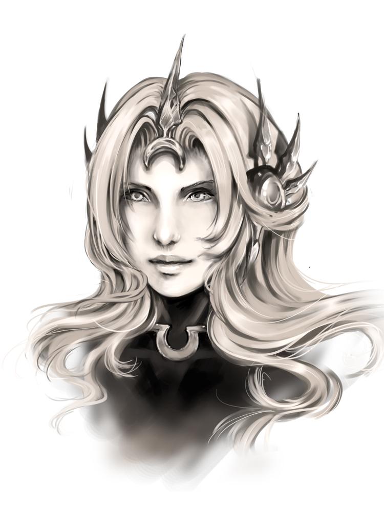 League of Legends -- Leona Portrait by Nyanfood