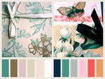 Flowers And Butterflies Palette