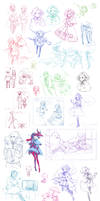 {PR} - Sketch Dump from Hell by Nyanfood