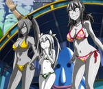 Wendy, Lucy and Erza Petrified