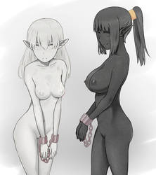 Marble Elf and Granite Elf by L-exander909