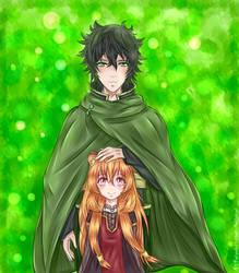Naofumi and Raphtalia. by KalonKittieKat