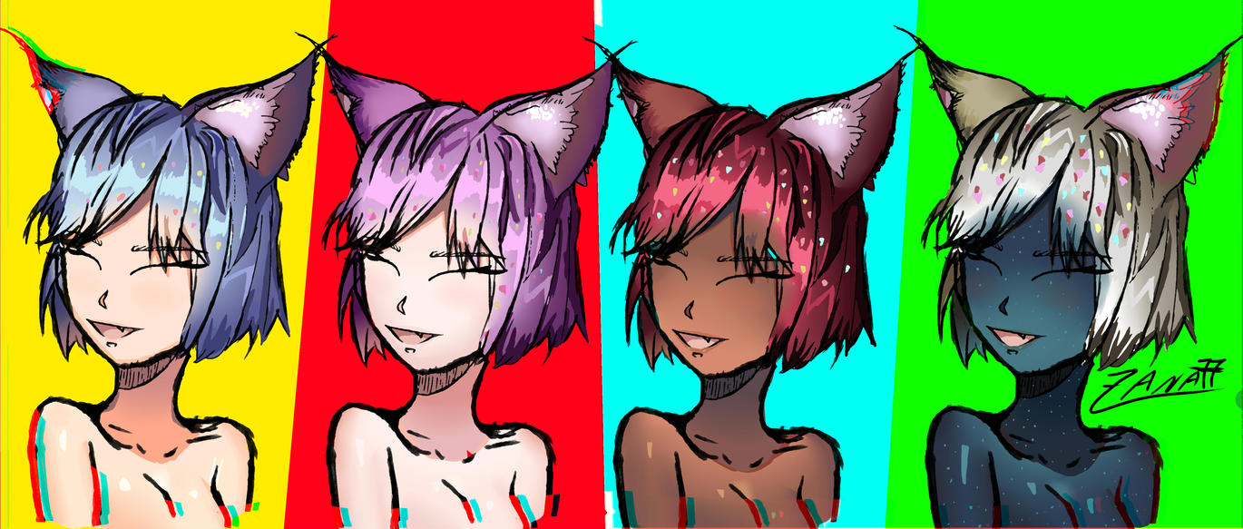 NEKO POP art by Zana77