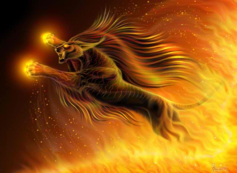 fire lion by Ptoemix on DeviantArt