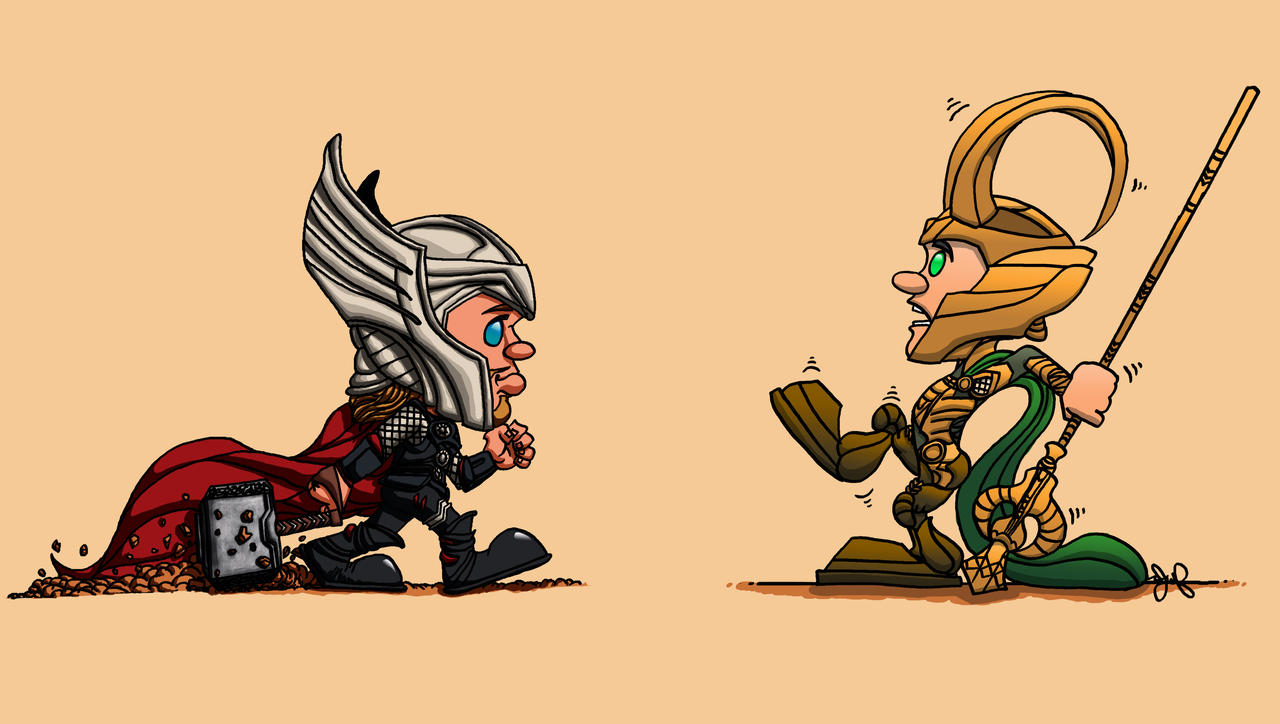 Thor and Loki by JoshuaFitzpatrick