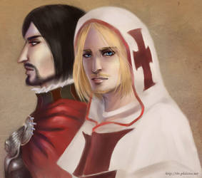 AC - Cesare and Leonardo by himlayan