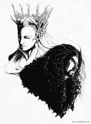 The Hobbit - Thranduil and Thorin