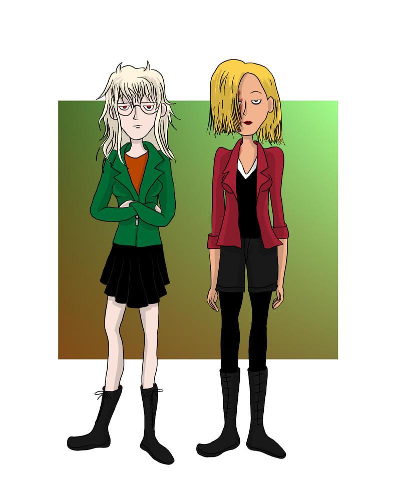 Nombrils Genderswap : Aline et Vinka ados by Campanita42