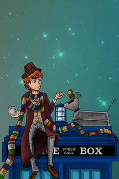 Potter Who: Ron Weasley as Fourth Doctor