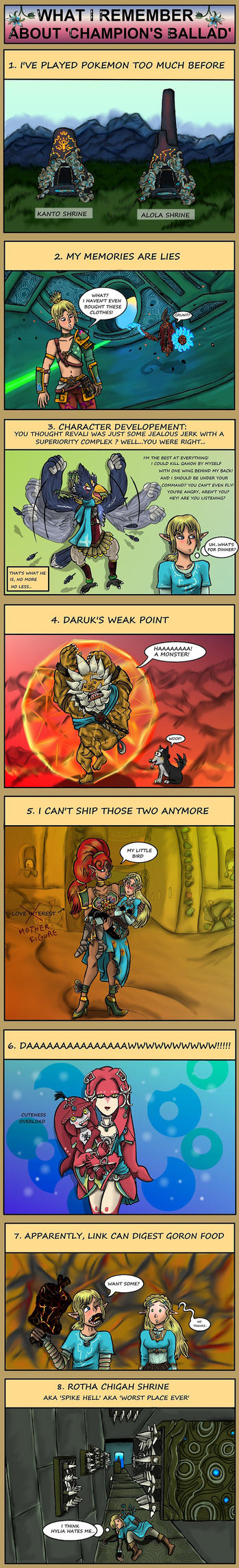 LOZ : About Champion's Ballad by Campanita42