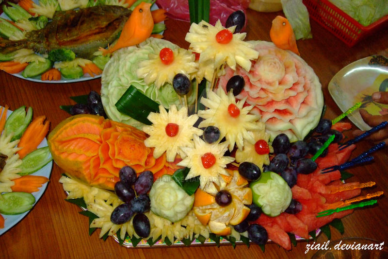 Fruit carving by ziail on deviantart
