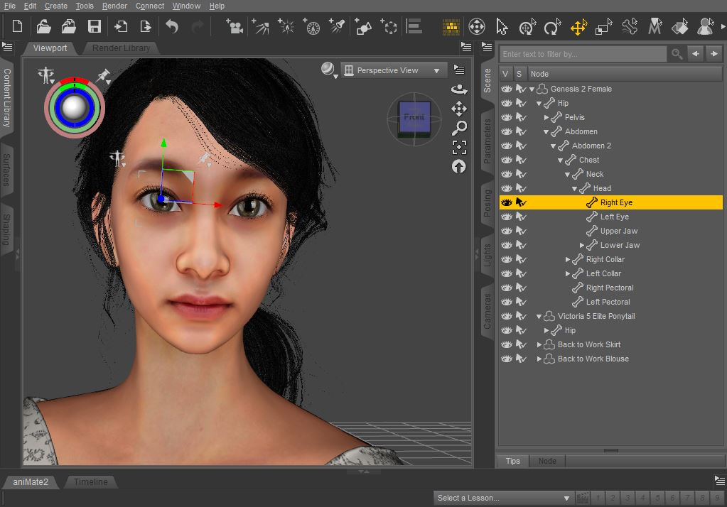 CGI - 3d character Female 3d character by riyaduszone on