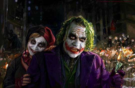 Joker and Harley Quinn by iricolor