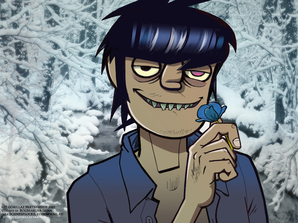 Murdoc and flower by i...
