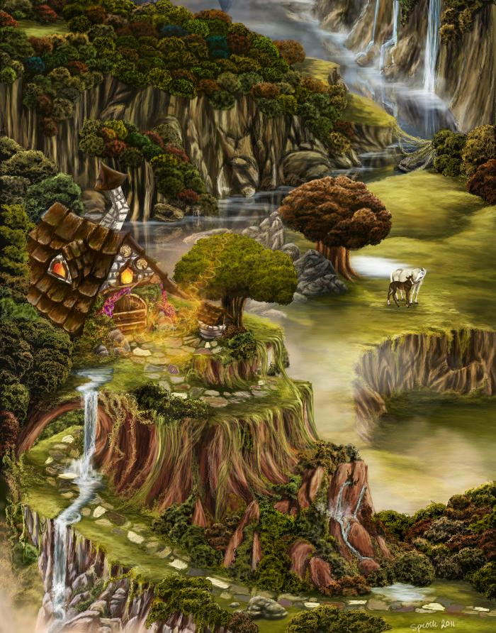 Little Fantasy Cottage By Zprokey