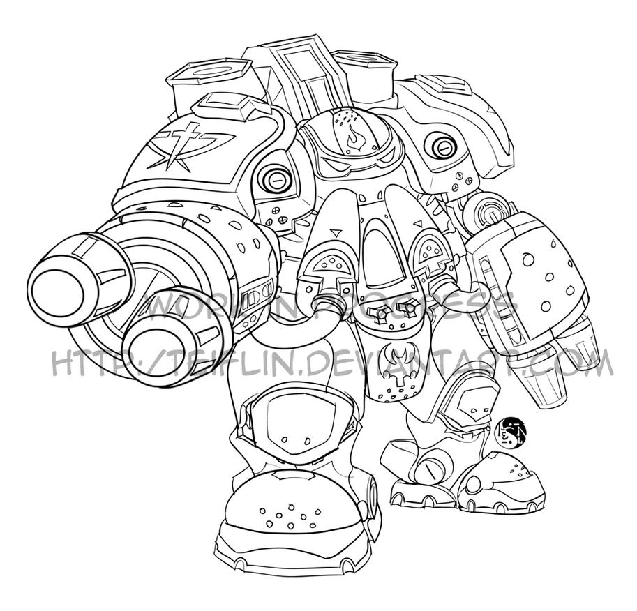 Starcraft 2 firebat by teiflin on deviantart for Starcraft coloring pages