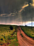 Stormy Country Road