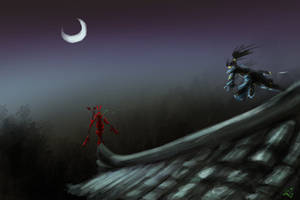 Demon on the roof by dinmoney