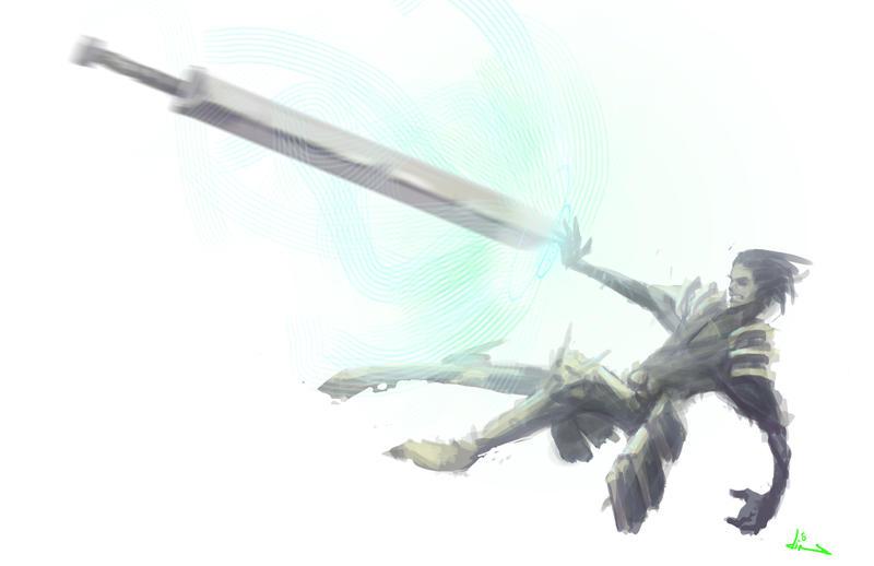 who threw the sword? by dinmoney