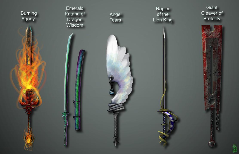 2 Handed Swords By Dinmoney On Deviantart