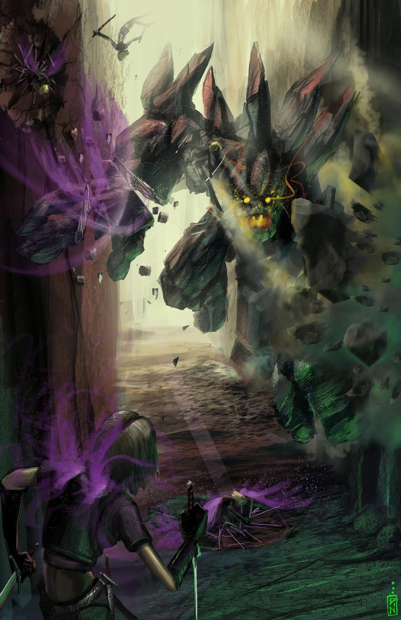 Alacrity vs Rock Giant by dinmoney