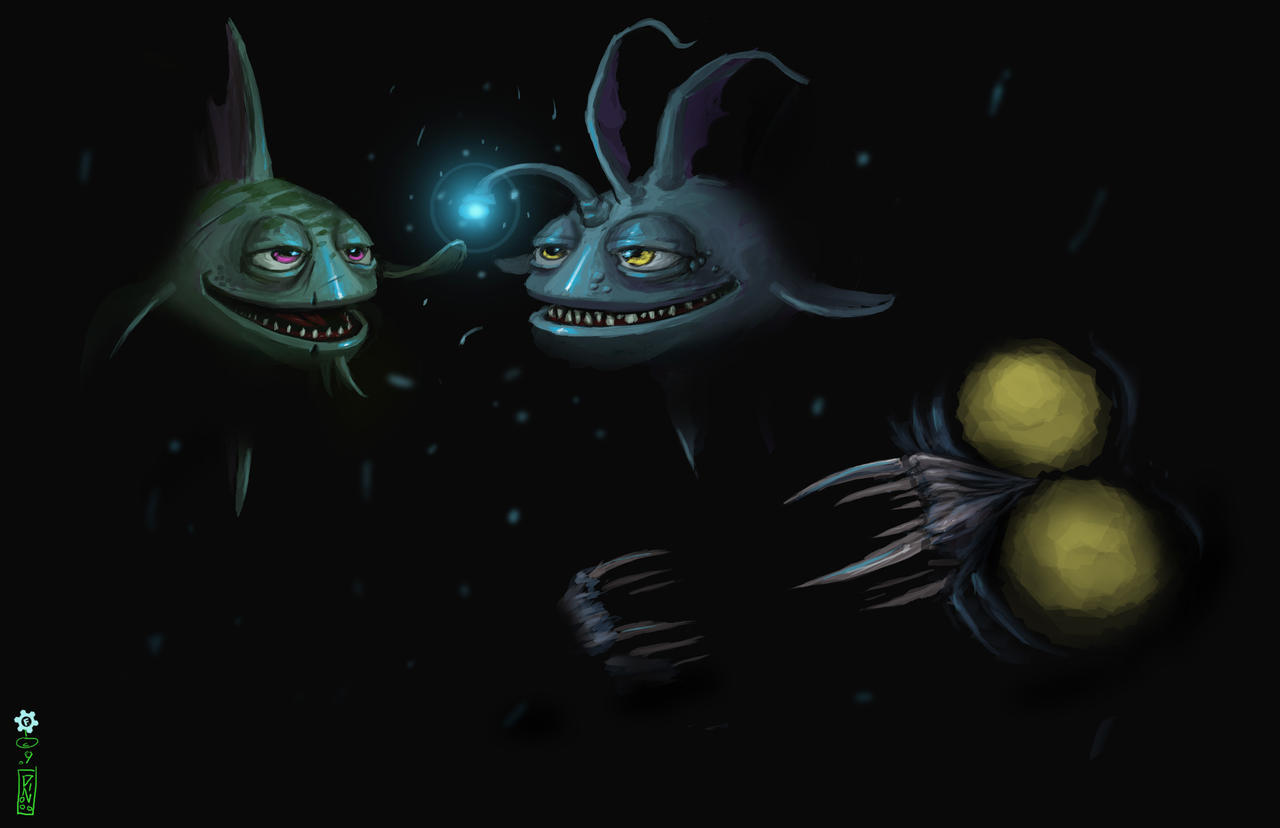 Deep sea fish by dinmoney on deviantart for Deep sea fishes