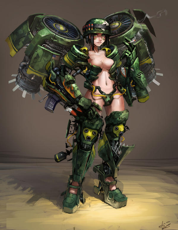 Military girl by dinmoney