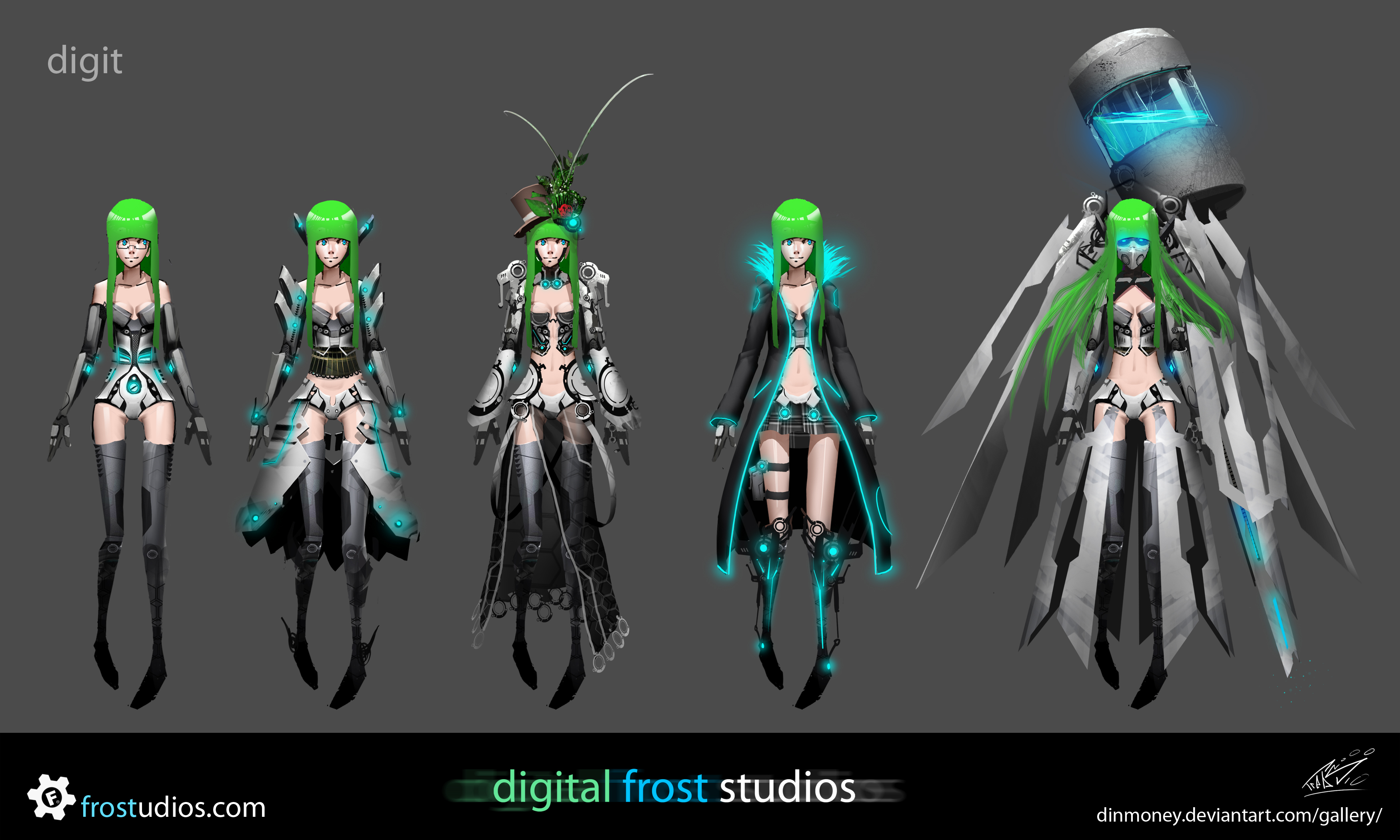 digit - costume variants by dinmoney