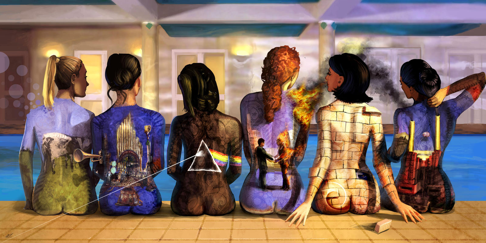 Pink floyd naked ladies back