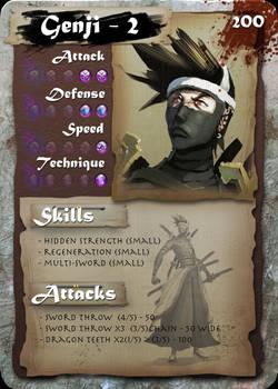 SamGen card - 'Genji - lvl 2'