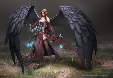 Lily - Fallen Angel by dinmoney