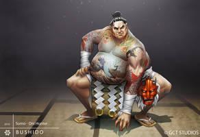 Mikio - Sumo Oni Hunter by dinmoney