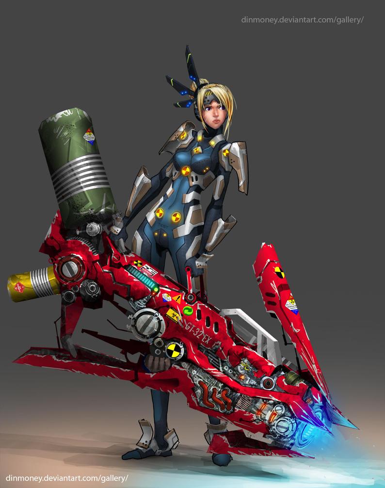 Weapon Tester - Fredrika by dinmoney