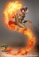 BUSHIDO - Fire Monk by dinmoney