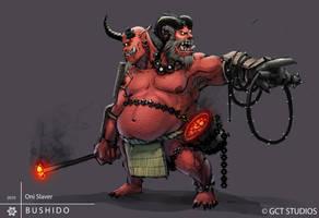BUSHIDO - Oni Slaver by dinmoney