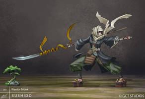 BUSHIDO - Warrior Monk by dinmoney