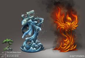 BUSHIDO - Fire and Water Kami