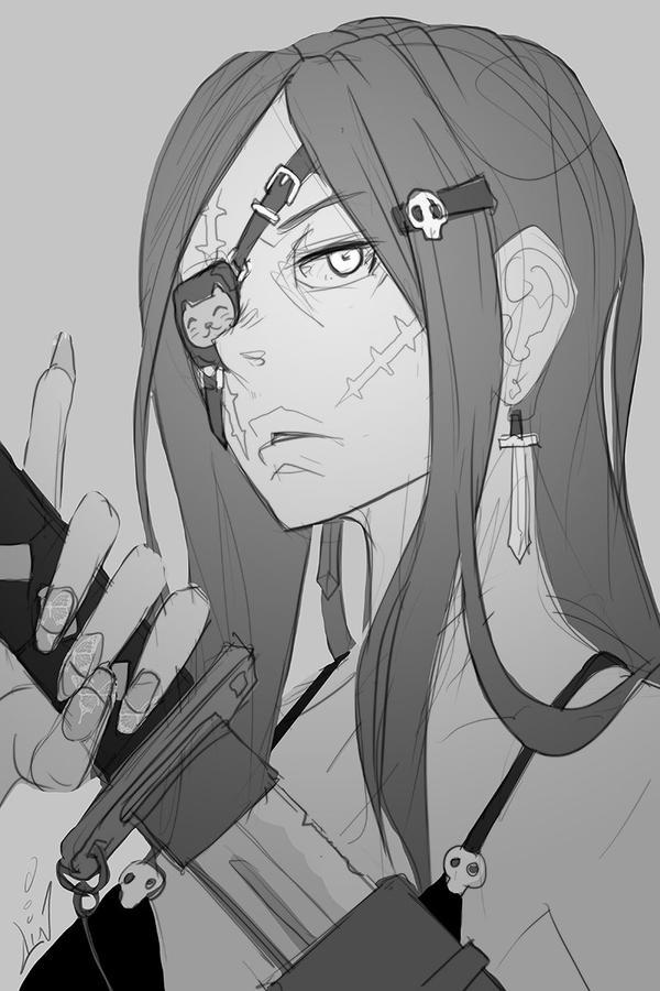 Cute Eye Patch - sketch by dinmoney