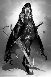 Elf Warrior Female by dinmoney