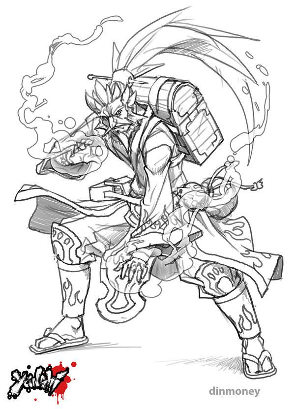 Yanshi: Qi-Shi sketch by dinmoney
