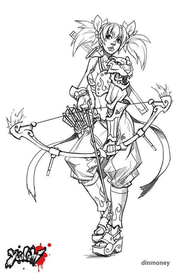 Yanshi: Mei Lin sketch by dinmoney